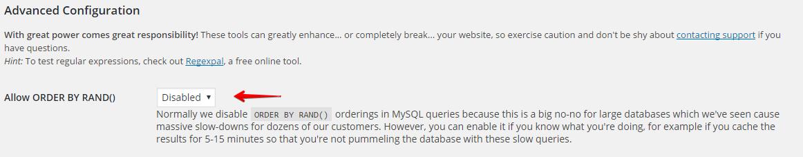 WP Engine order randomly issue
